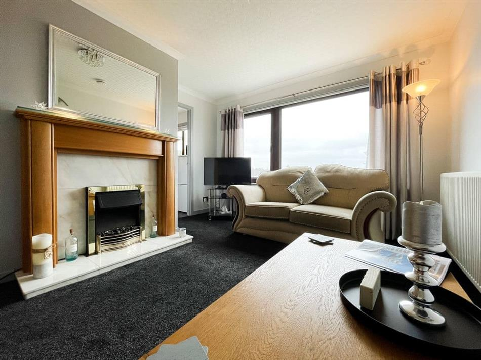 Living room in Bayview, Stornoway, Outer Hebrides