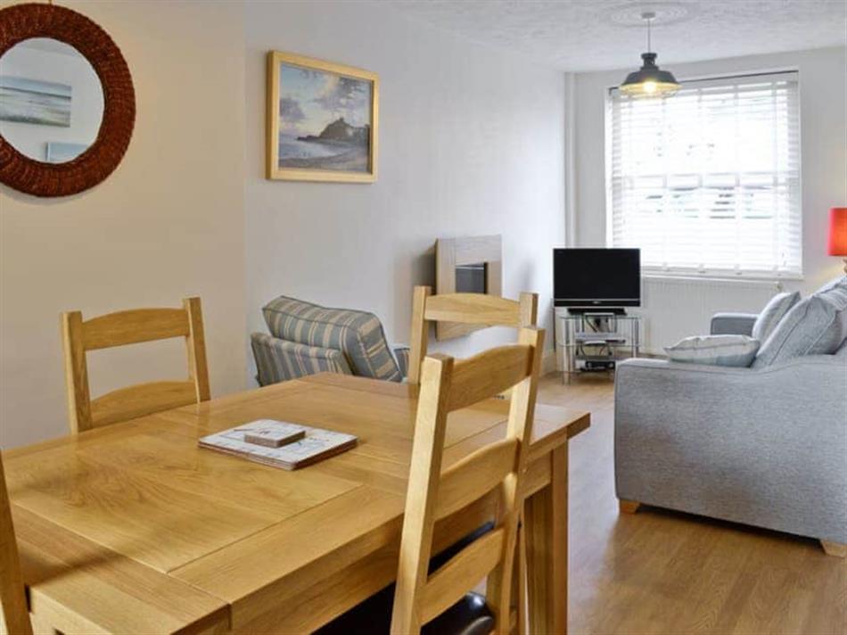 Living room in Castle Cottage, Criccieth, Gwynedd