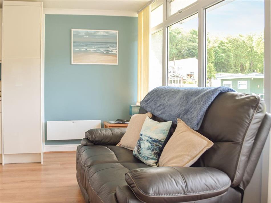 Living room in Chalet 136, Gilfachrheda, near New Quay
