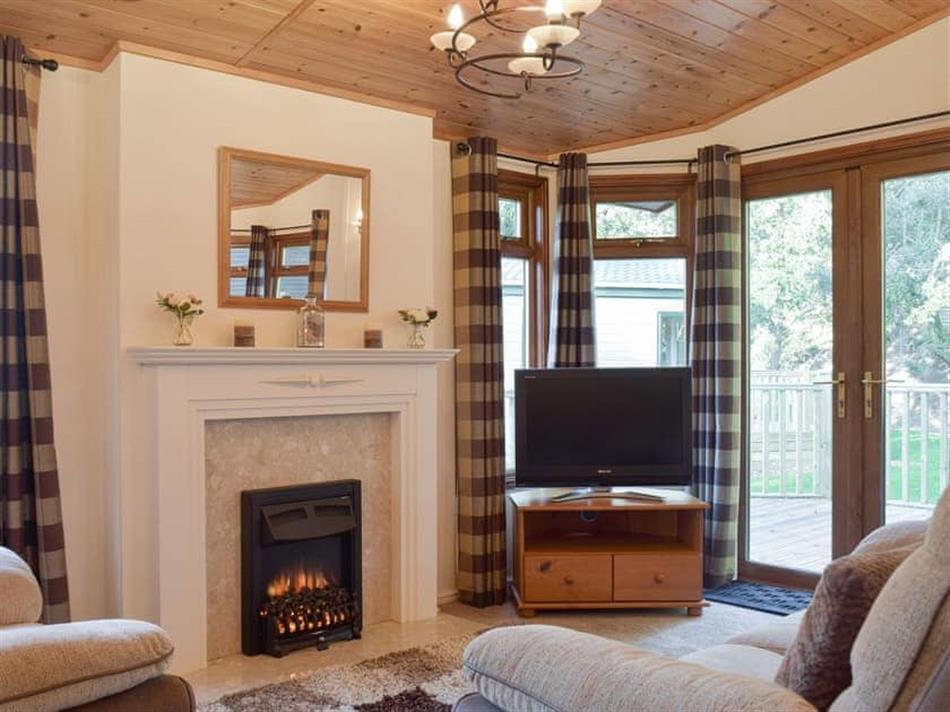 Living room in Colman Brook Lodge, Corton, near Lowestoft