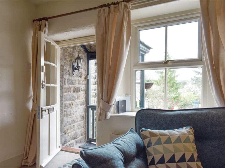 Living room in Corner Cottage, Baslow, near Bakewell