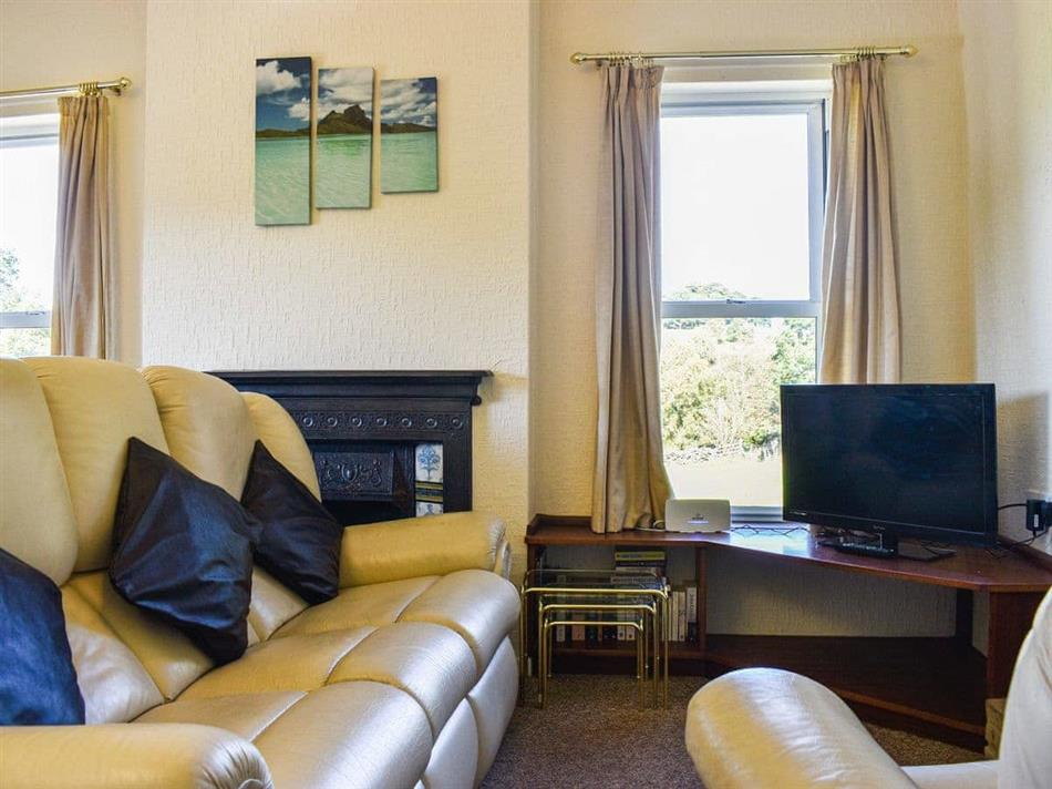 Living room in Farndale Apartment, Commondale, near Whitby