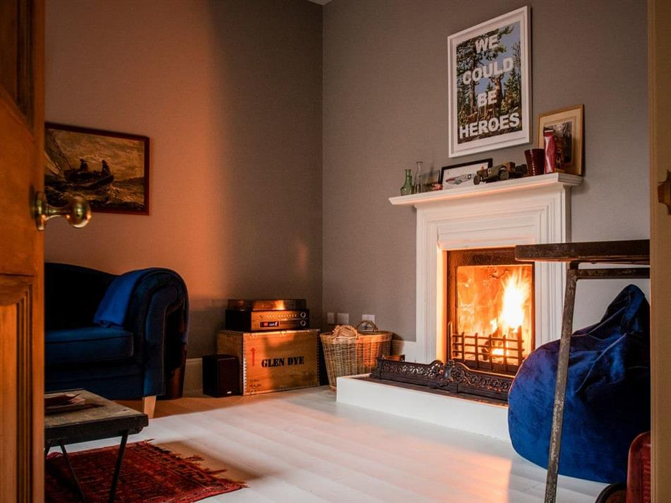 Living room in Glendye Cottages and Cabins - North Lodge, Banchory