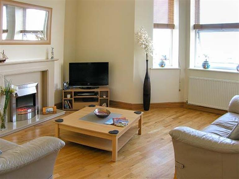 Living room in Gwylanedd One, Llanfairfechan