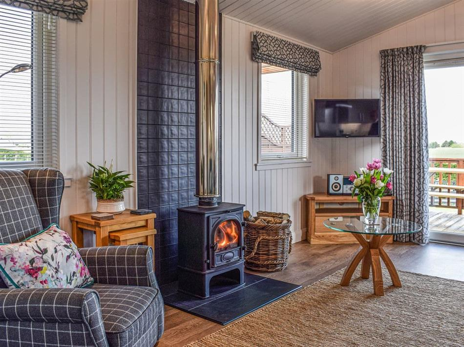 Living room in Islabank Lodge, Auchterarder