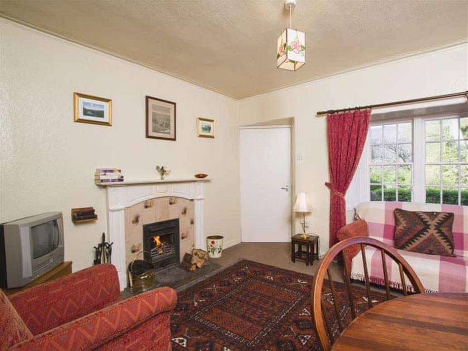 Living room in Katy's Cottage, Glenprosen, by Kirriemuir, Angus