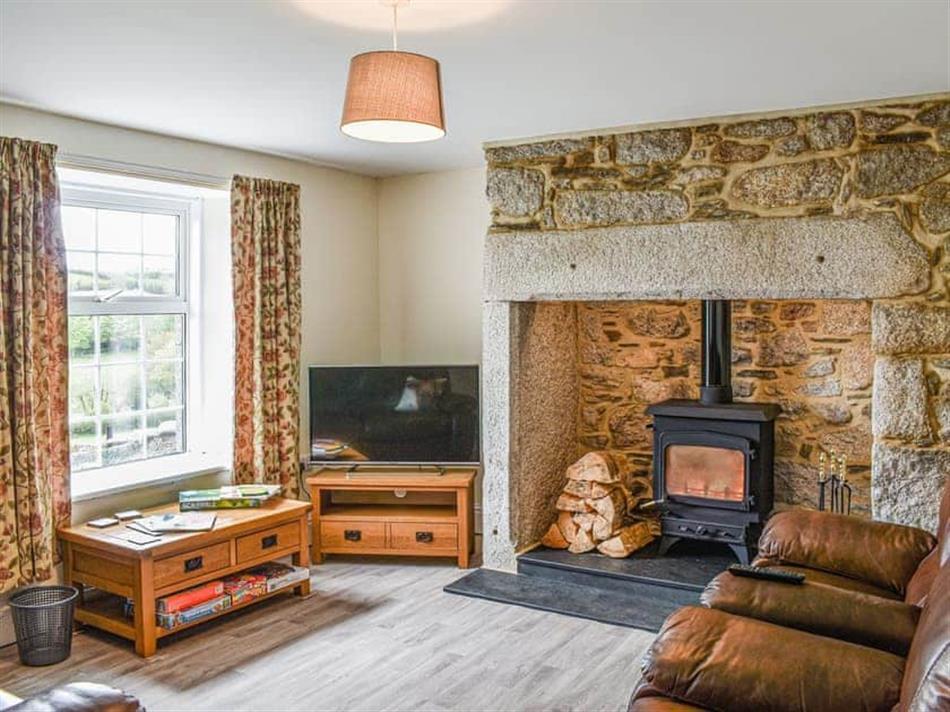 Living room in Lower Colvannick, Lower Colvannick Farm