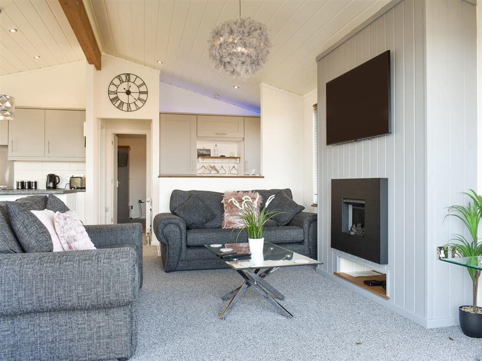 Living room in Ocean Glade, Corton, near Lowestoft