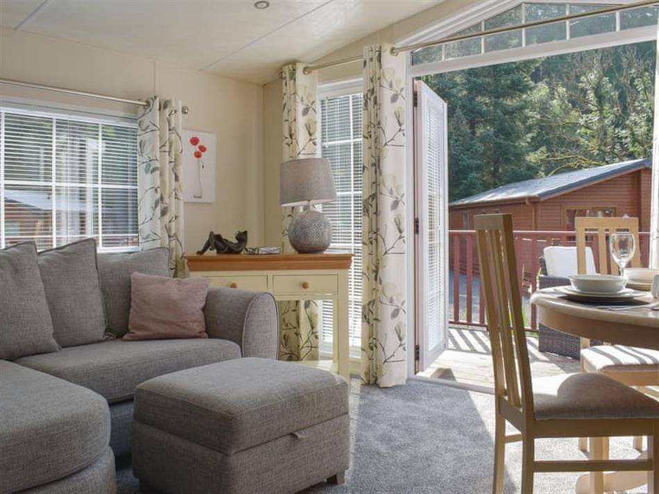 Living room in Poppy Lodge, Glendevon, near Auchterarder