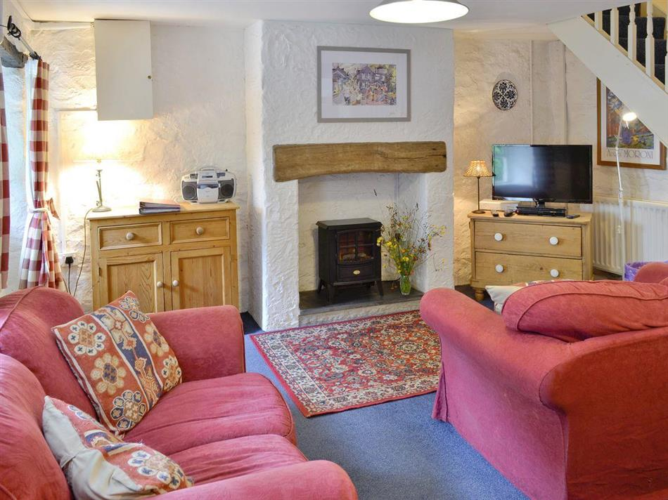 Living room in Riverside Cottage, Betws-y-Coed