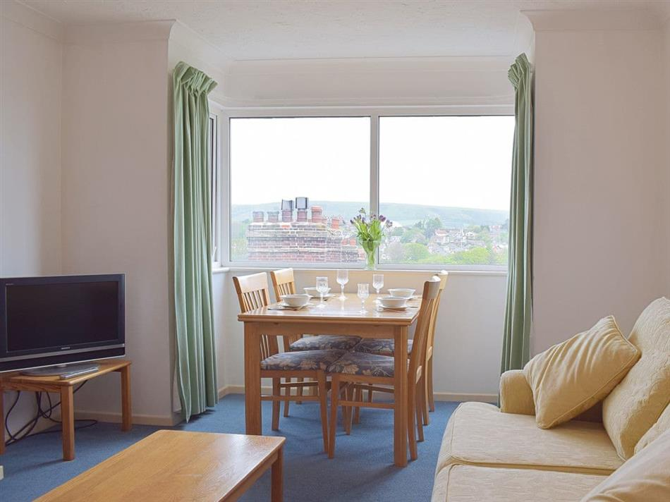 Living room in Sandringham Court, Swanage