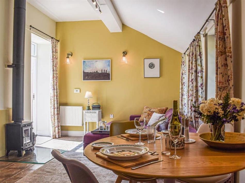 Living room in The Bothy, Leaton Knolls, near Shrewsbury