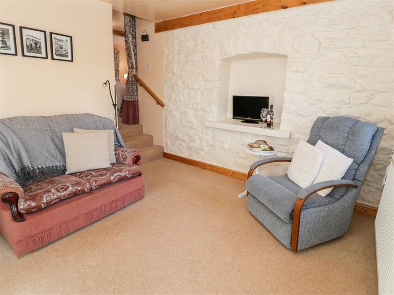 Living room in The Byre, Llandyfrydog near Llanerchymedd