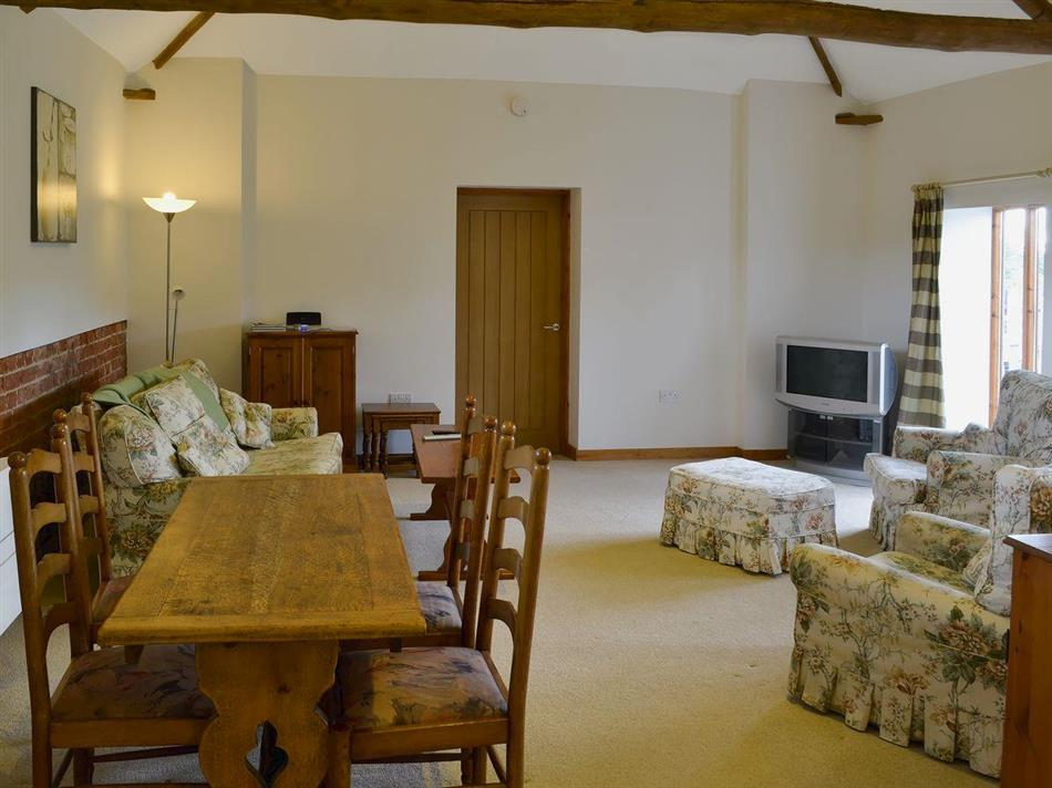 Living room in The Cowshed, Blofield, near Norwich