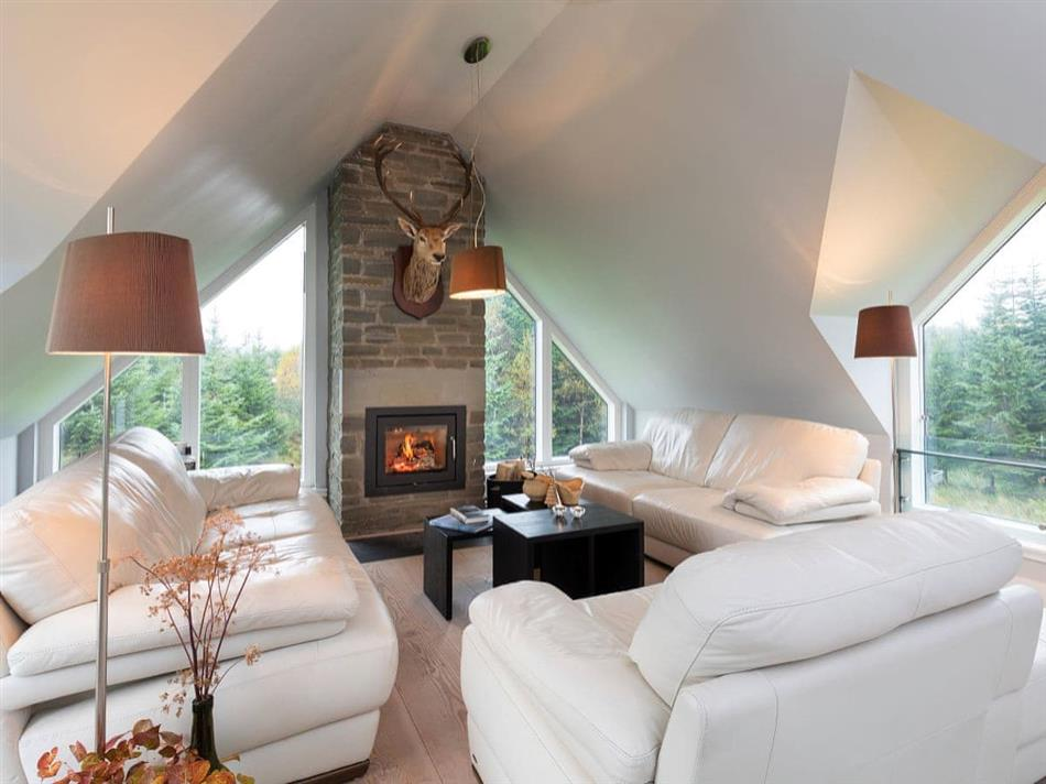 Living room in The Lodge at Muir Estate, Callander