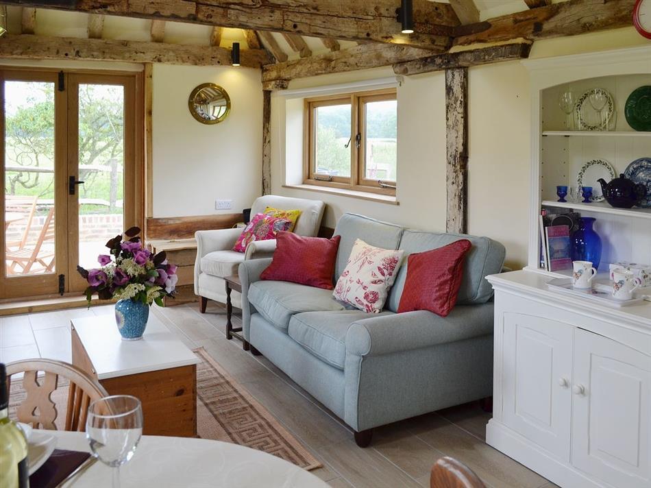 Living room in The Longbarn Huntbourne, St Michaels, near Tenterden