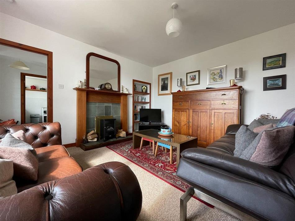 Living room in The Nicolson House, Lemreway, Outer Hebrides