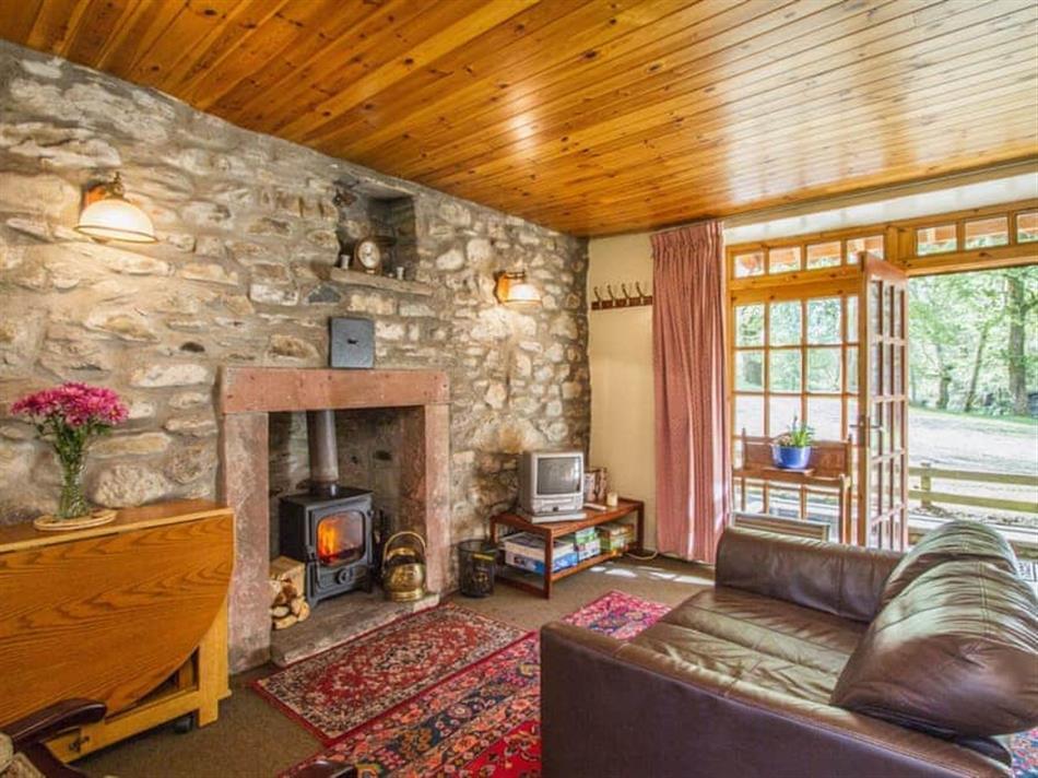 Living room in The Old Laundry, Glenprosen, by Kirriemuir, Angus