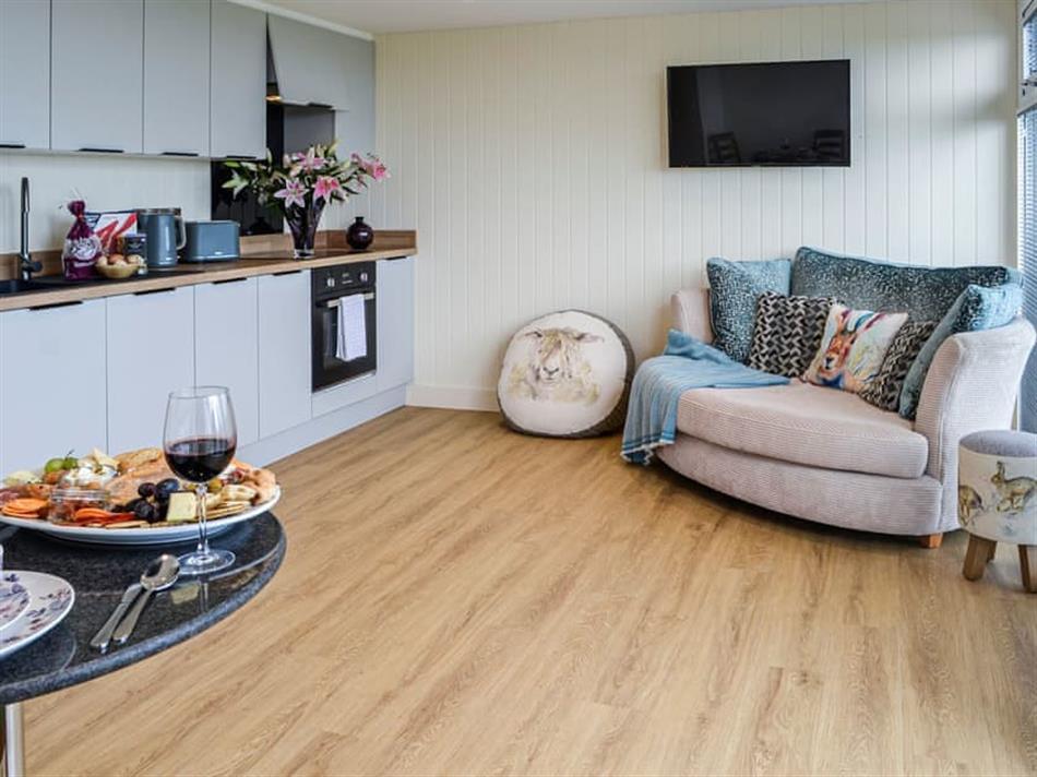 Living room in The Seaview Snug, Whithorn, near Newton Stewart