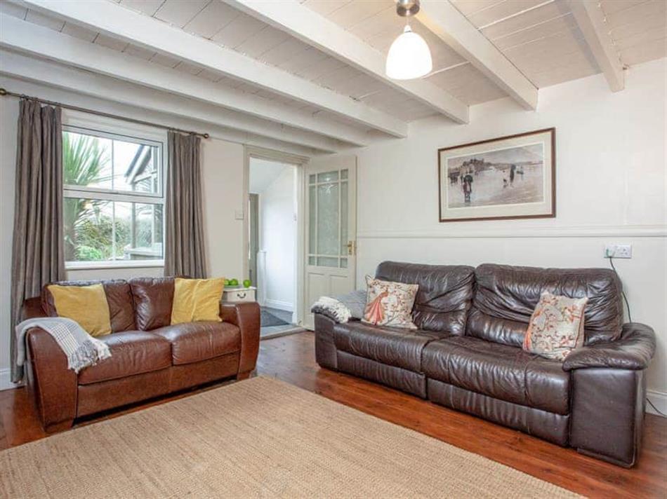 Living room in The Smithy, Polgigga, near Sennen Cove