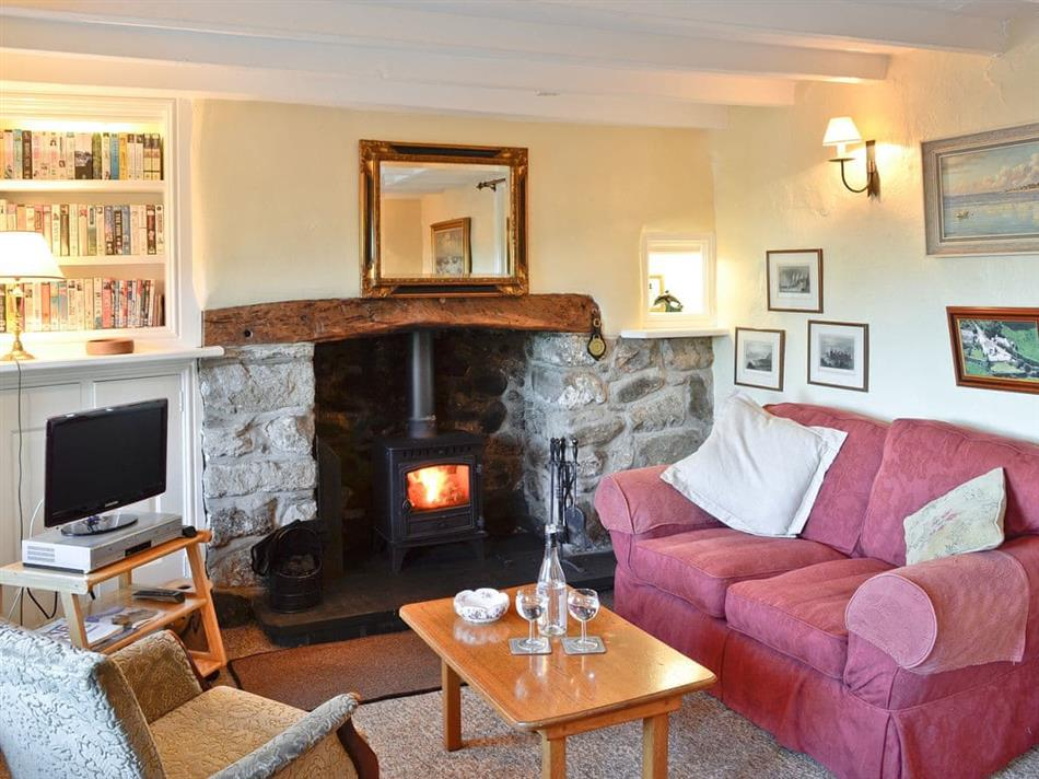 Living room in Tyn Llidiart, Llanbedr-y-Cennin