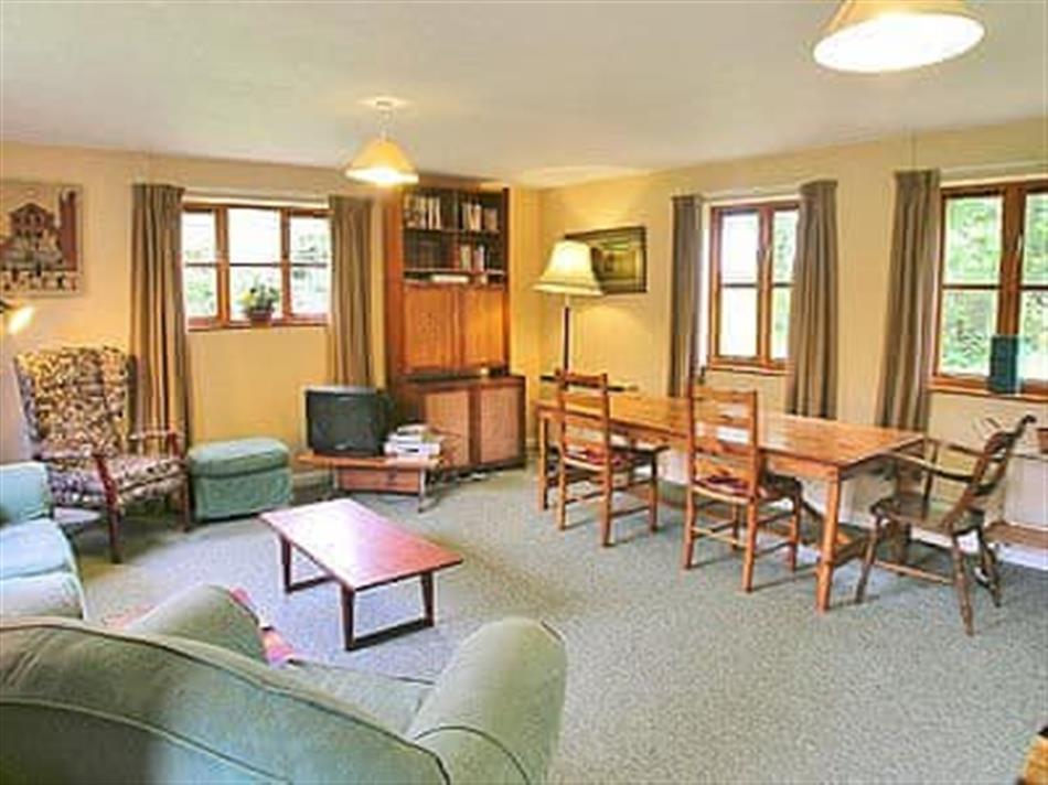 Living room in Water Hall Cottage, Kettlebaston