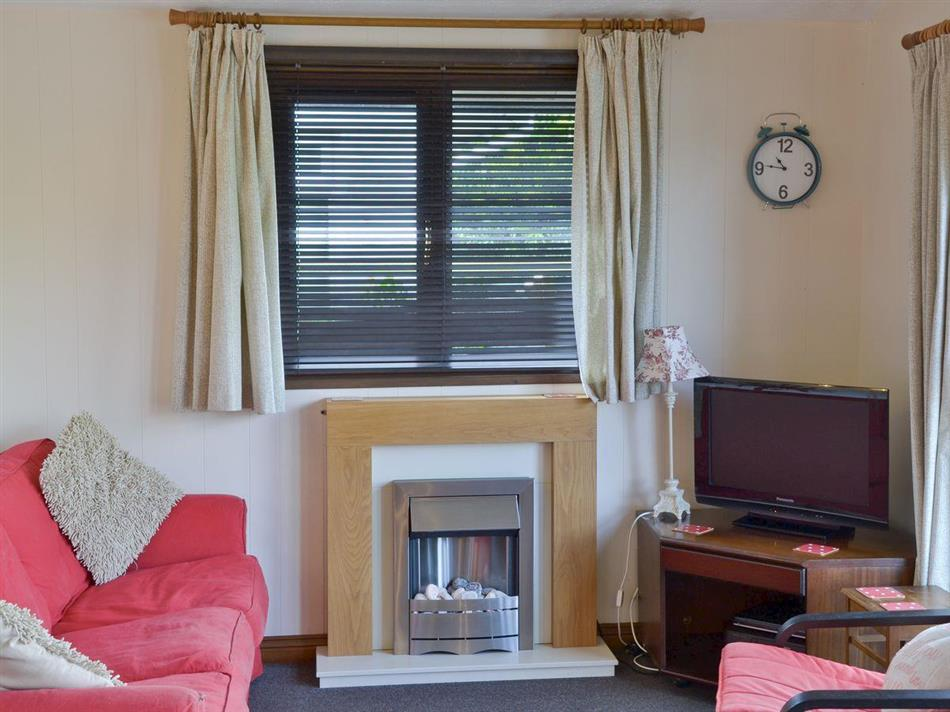 Living room in Yare View Lodge, Brundall