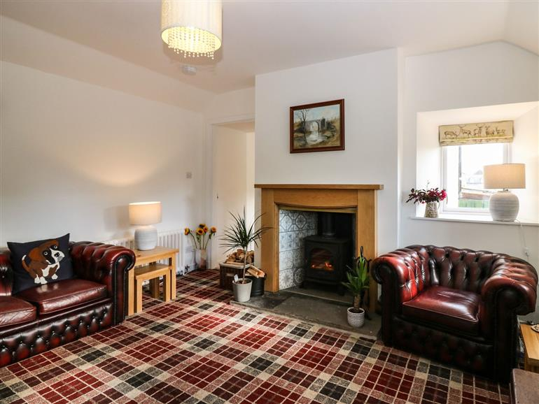 The living room at Lily's Hoosie in Portsoy