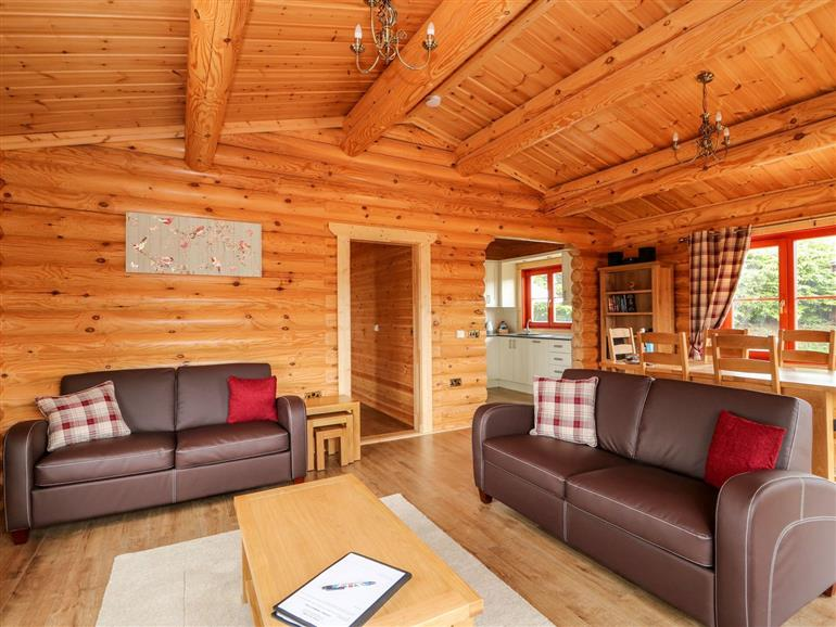 This is the living room at Maple Lodge in Greetham