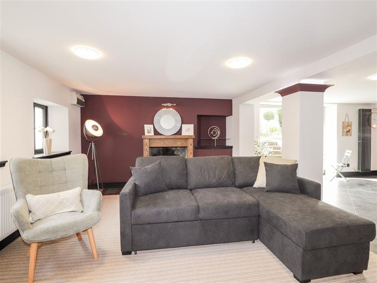 This is the living room at Mary Ann Apartment in Inverness