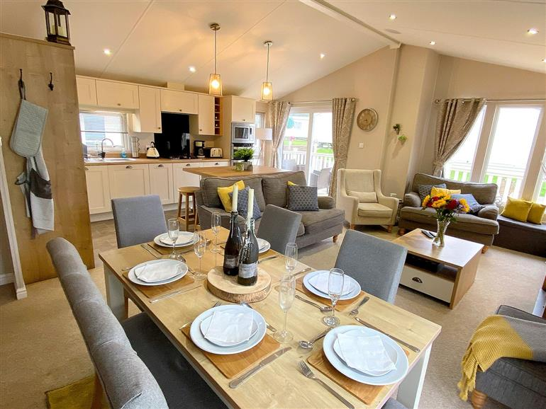 This is the living room at Meadow Lodge in Cayton