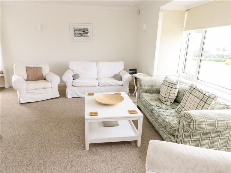 This is the living room at Moorside in Trearddur Bay