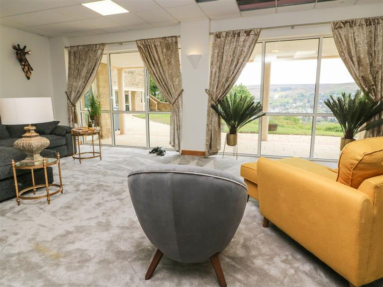 The living room at Myddelton Grange in Ilkley