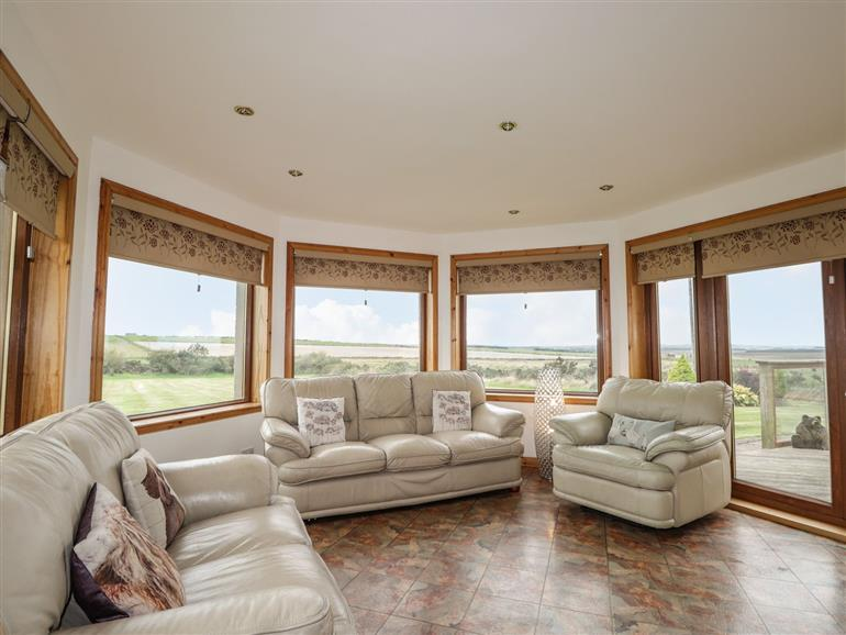 This is the living room at Nordwall Farm in Reiss near Wick