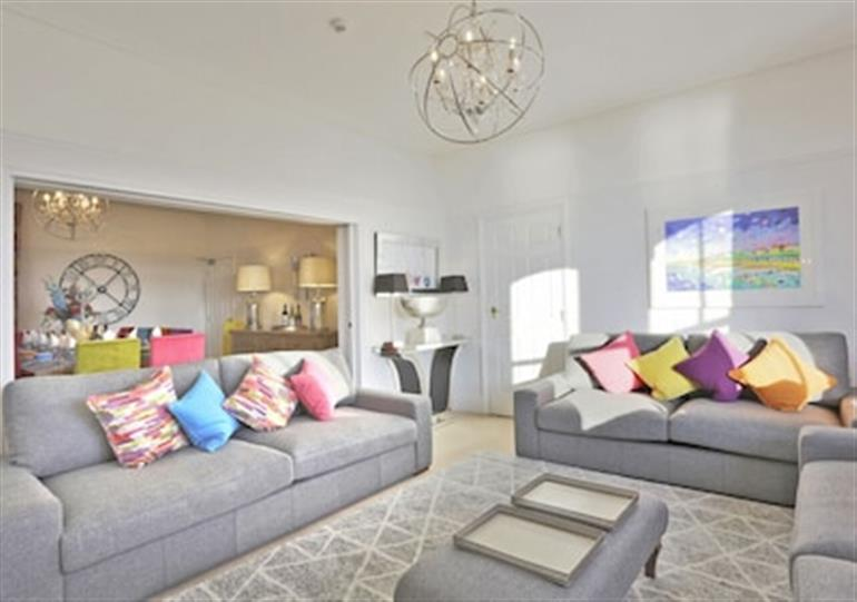 The living room at Northcliffe in Southwold