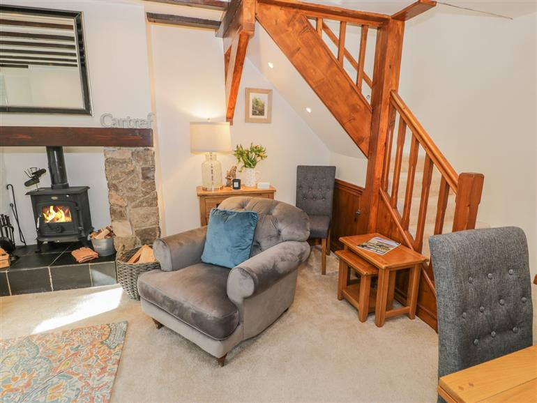This is the living room at Nythfa in Llanrwst
