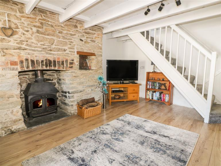 The living room at Oakley Cottage in Bodmin