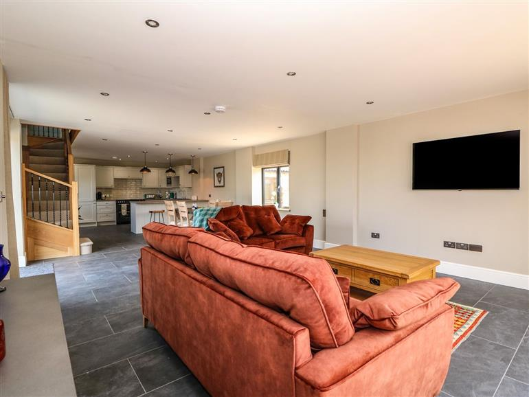 This is the living room at Old Willow Barn in Kirton