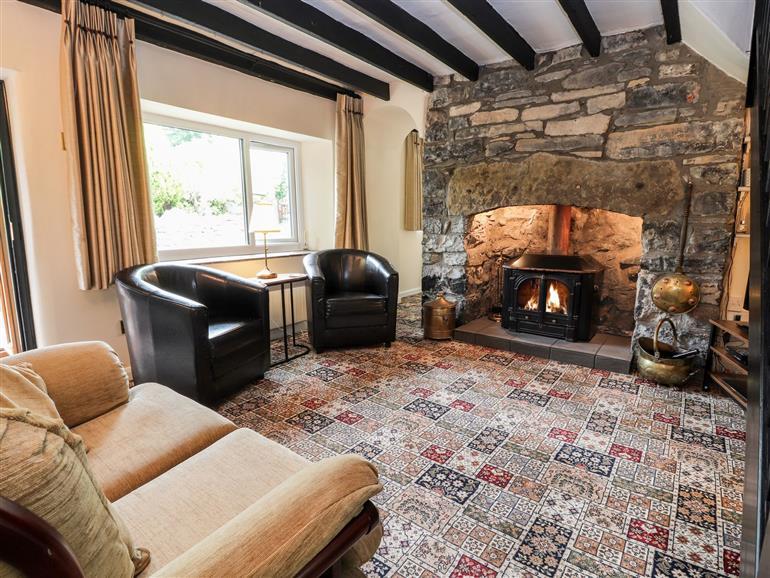 The living room at Pen-y-Craig in Gwaenysgor near Prestatyn