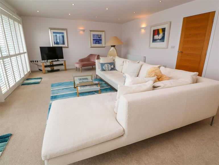 This is the living room at Sandbanks in Praa Sands