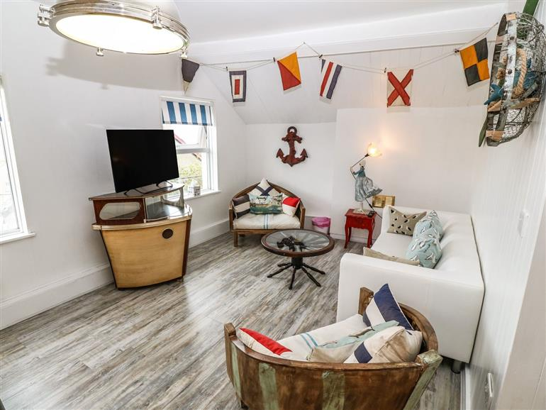 This is the living room at Seagulls Rest in Criccieth