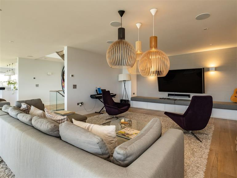 This is the living room at Seascape in Polzeath