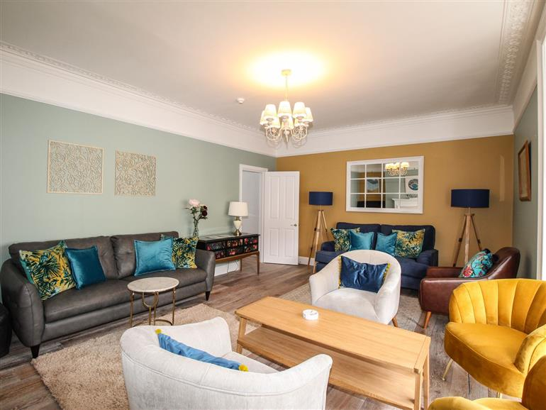 This is the living room at Seaside House in Weymouth