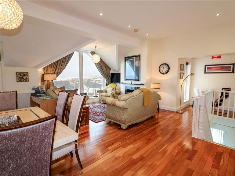 The living room at Seaview in Castlerock