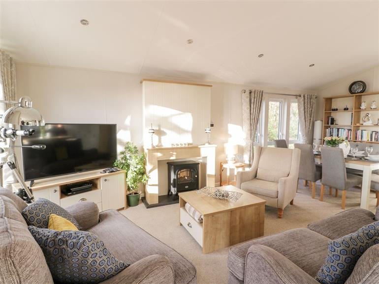 This is the living room at Serenity Lodge in Wemyss Bay