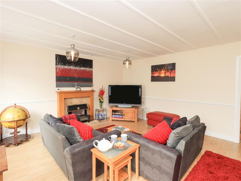 This is the living room at Solway Cottage near Annan