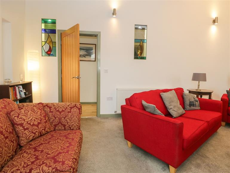 This is the living room at St Cuthbert's House in Flookburgh