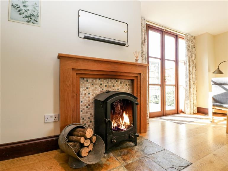 This is the living room at Sweetings Barton in Cotford St Luke