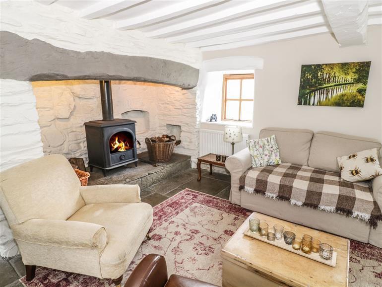 The living room at Tan Y Garth Cottage in Glyndyfrdwy near Llangollen
