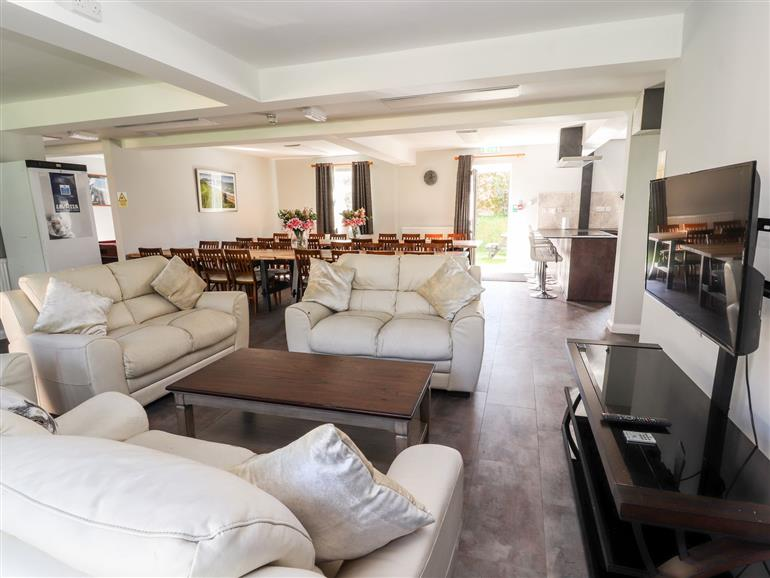 The living room at The Bevan in Bontnewydd